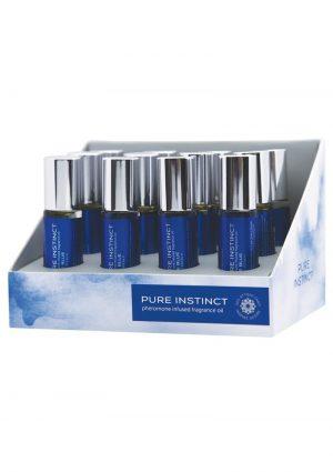 Pure Instinct Pheromone Infused Fragrance Oil True Blue Roll-On 0.34 Ounce Bottles 12 Bottles Per Display
