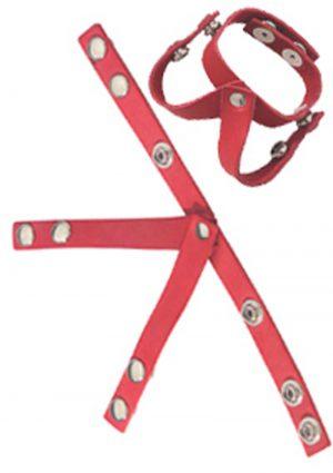 Redline Oiltan V Style Ball Divider Leather Red