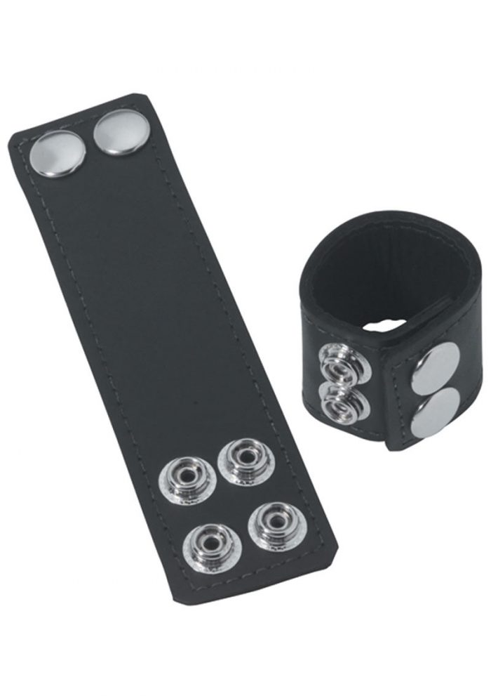 Ball Stretcher With Snaps 1.5 Inch Black