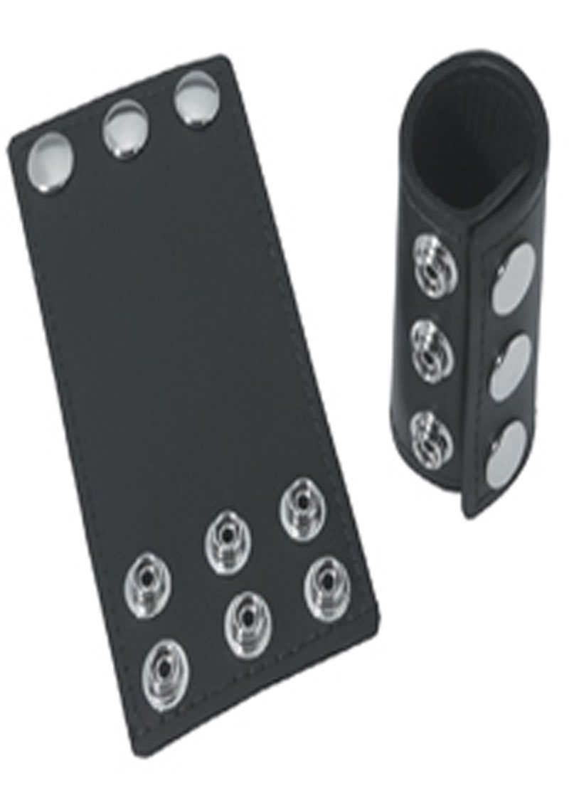 Ball Stretcher With Snaps 3 Inch Black