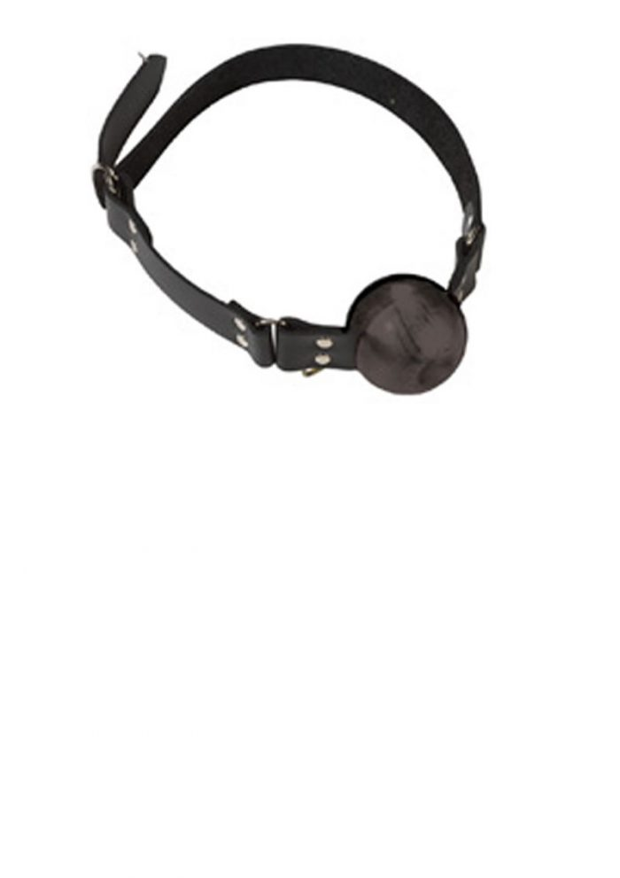 Large Ball Gag With D Ring 2 Inch Black