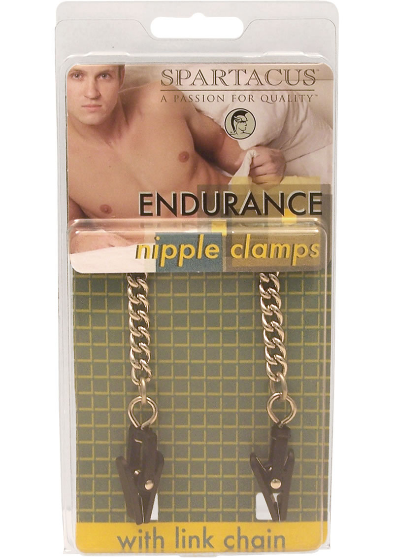 Endurance Plastic Grabber Nipple Clamps With Link Chain Silver
