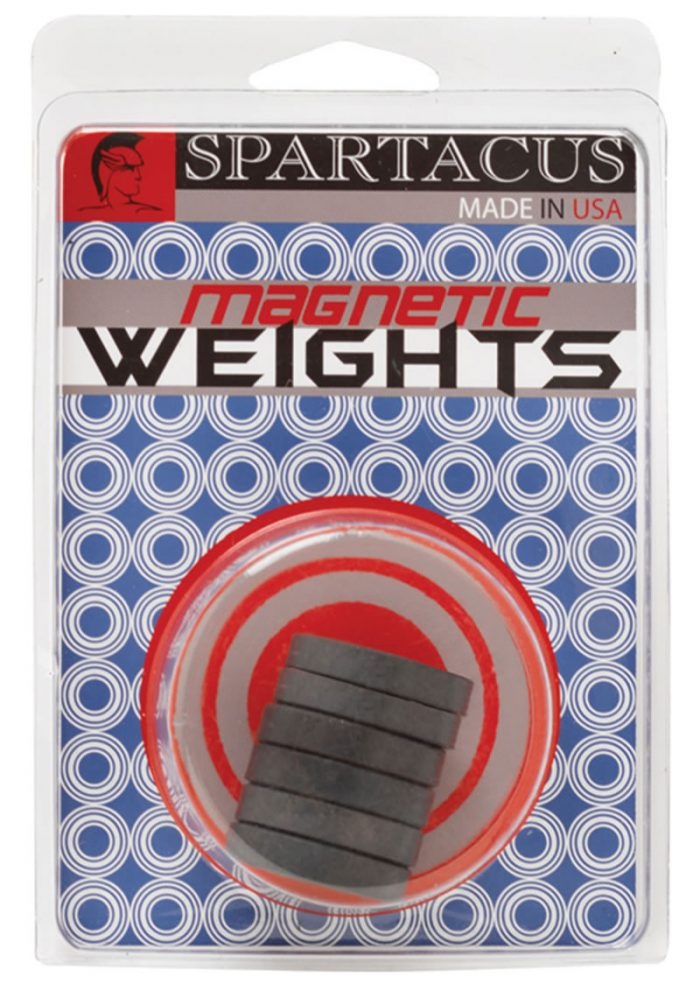 Magnetic Weights Pack of Six 1 Ounce Black