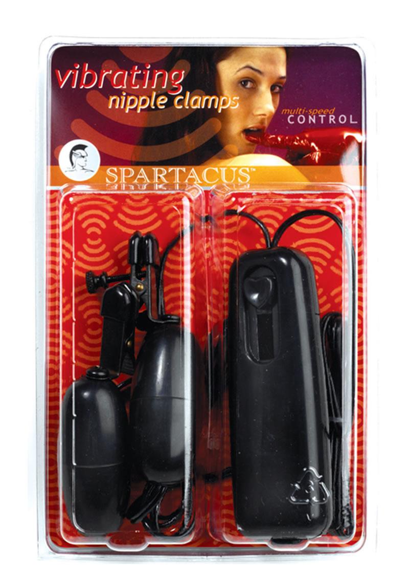 Vibrating Alligator Mini Nipple Clamps Black