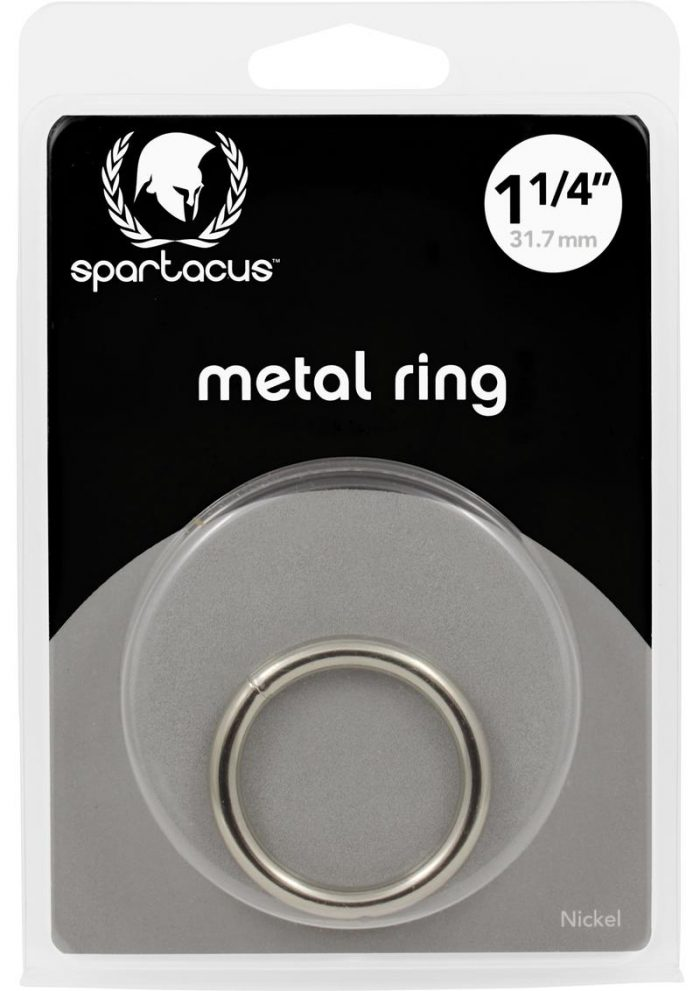 Metal Cock Ring 1.25 Inch Nickel