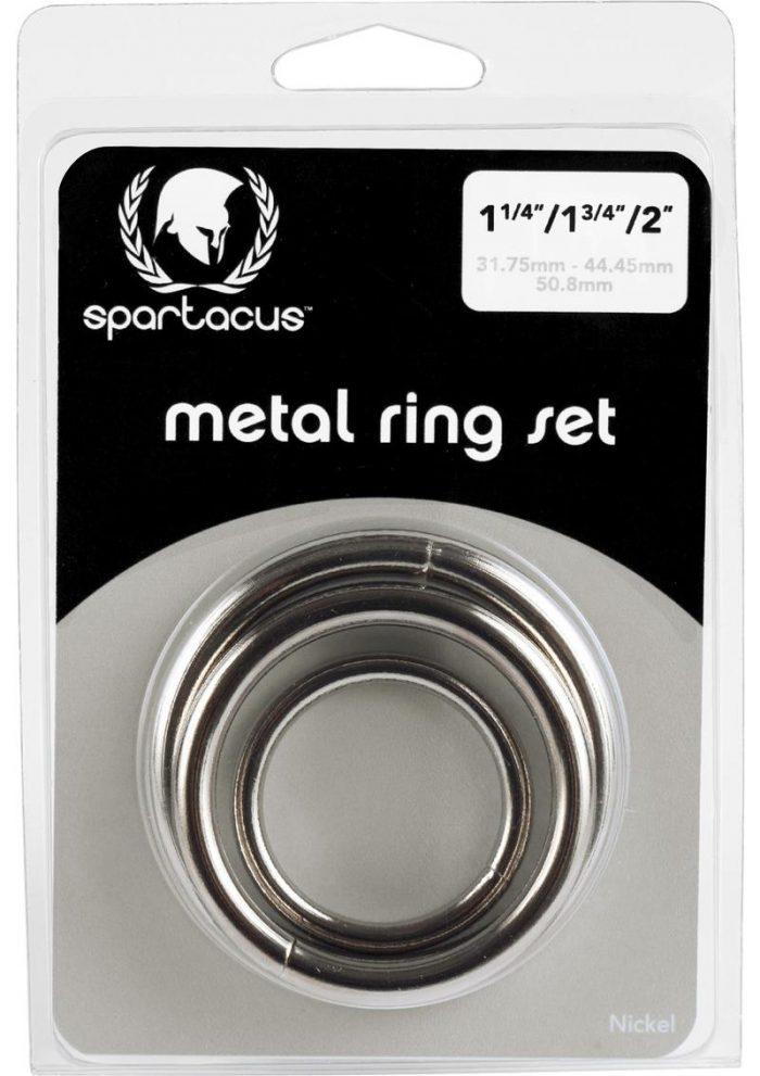 Nickel Cockring Set Silver