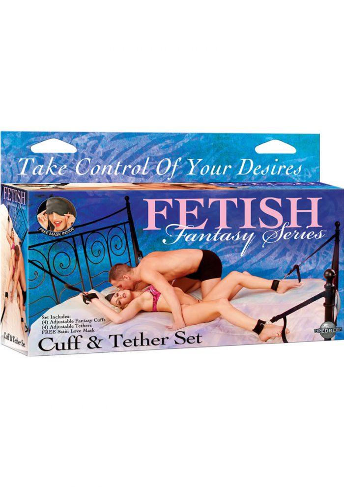 Fetish Fantasy Series Cuff and Tether Set Black