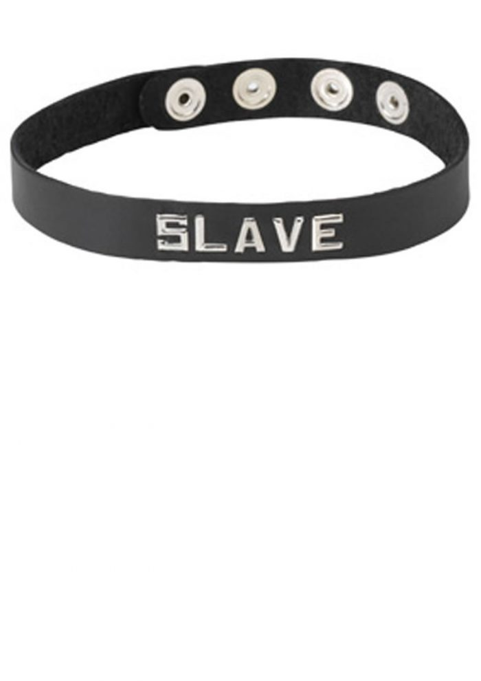 Wordband Collar Slave Black