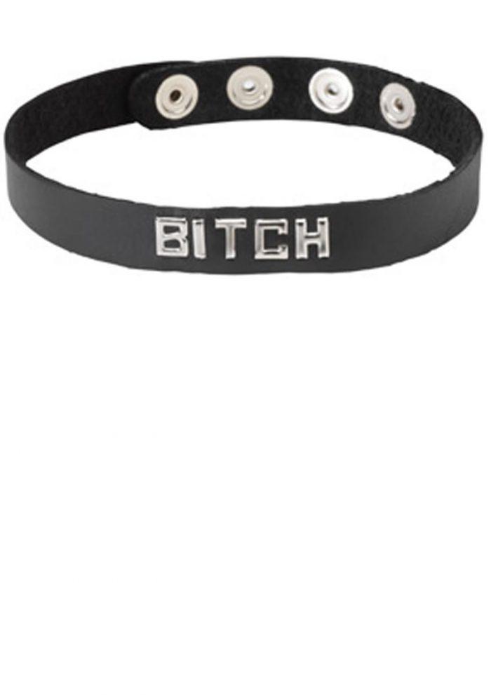 Wordband Collar Bitch Black