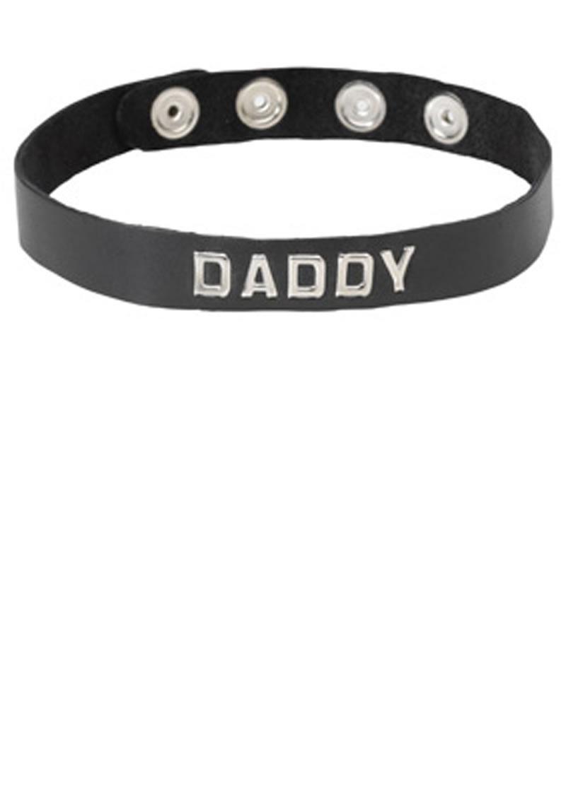 Wordband Collar Daddy Black