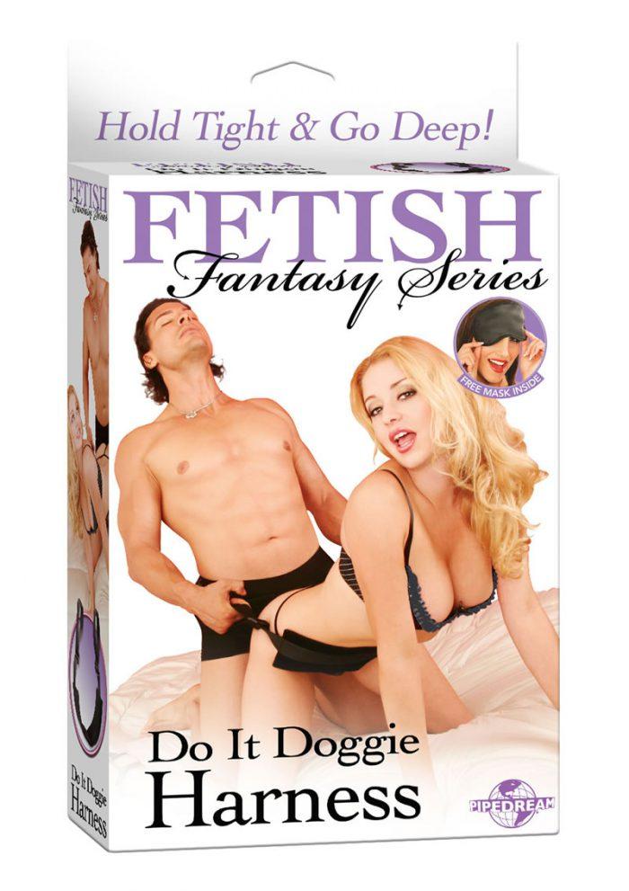 Fetish Fantasy Series Do It Doggie Harness Black