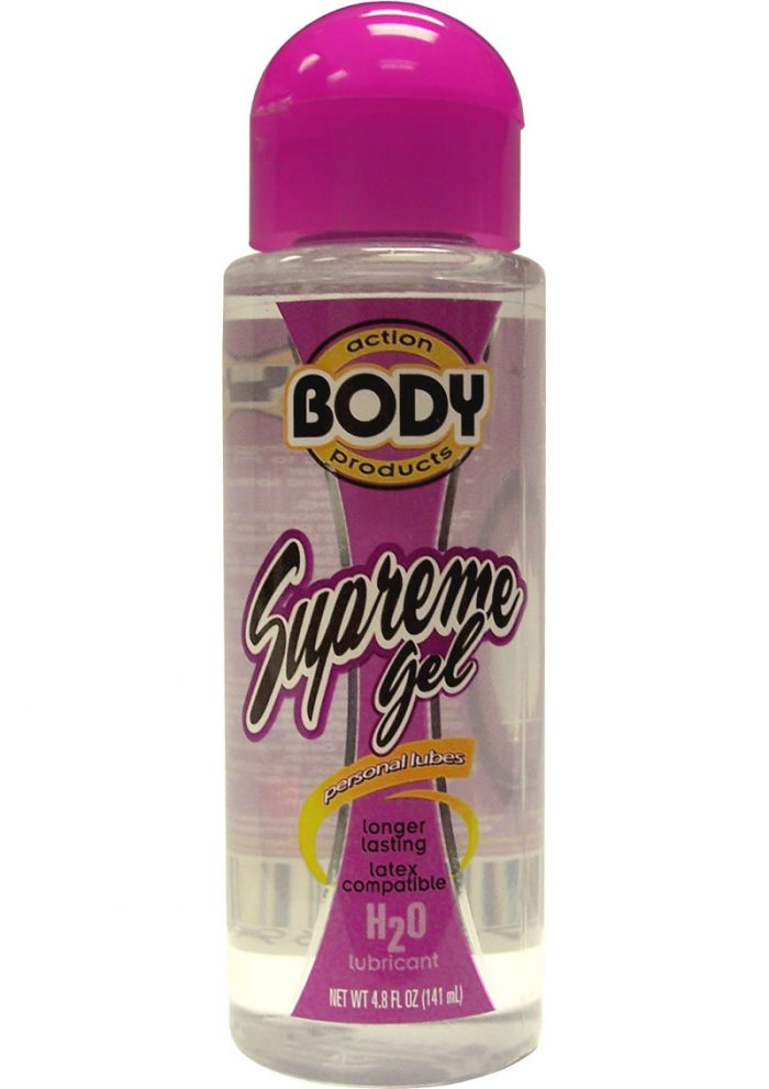 Body Action Supreme Gel Water Based Lubricant 4.8 Ounce