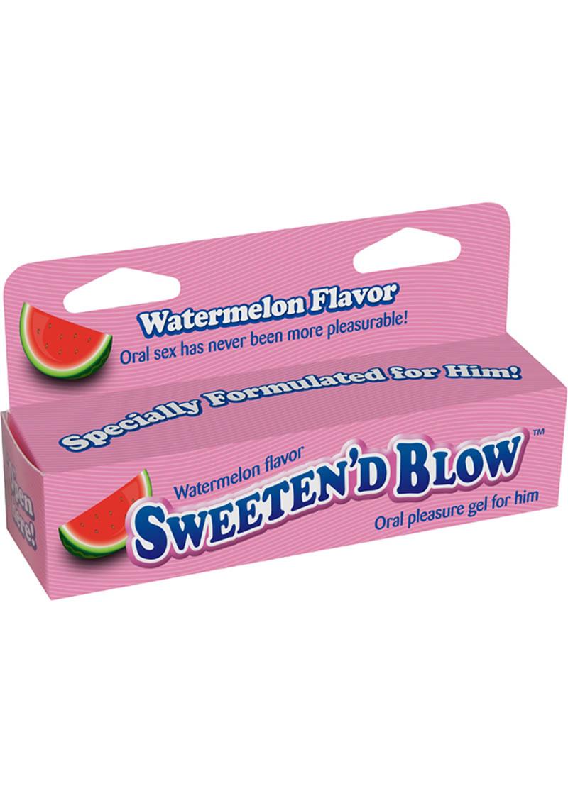 Sweeten D Blow Oral Pleasure Gel Watermelon 1.5 Ounce