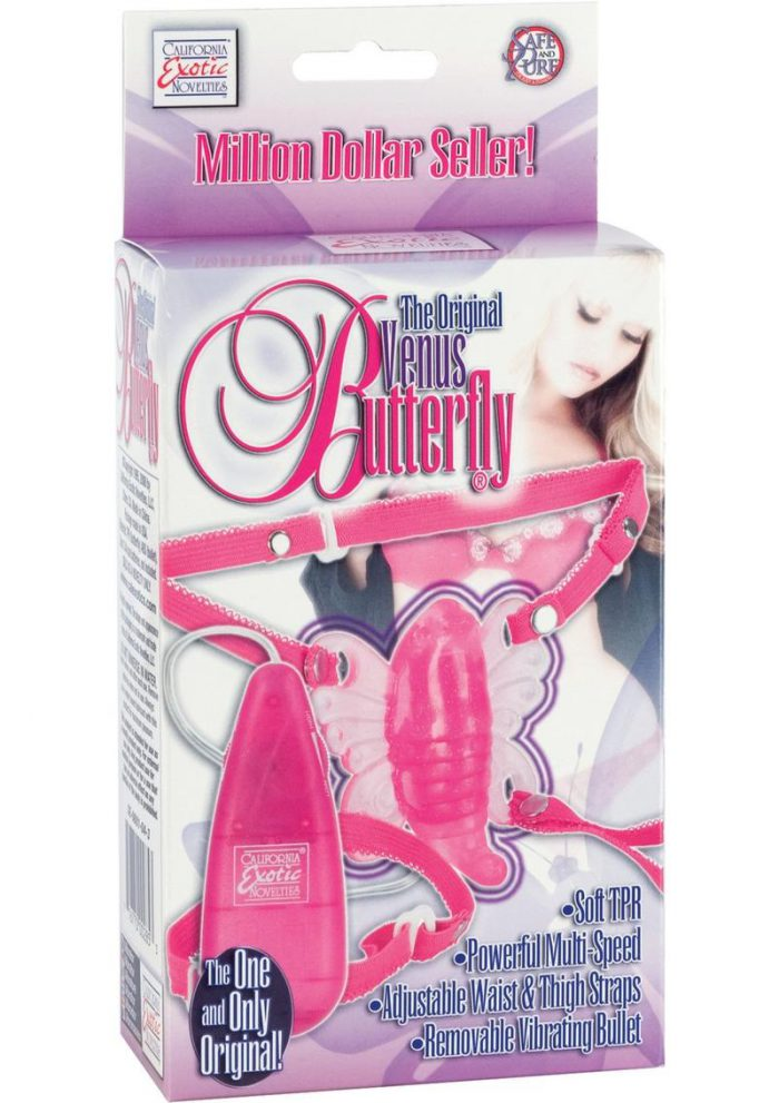 THE ORIGINAL VENUS BUTTERFLY WITH REMOVABLE VIBRATIG BULLET PINK