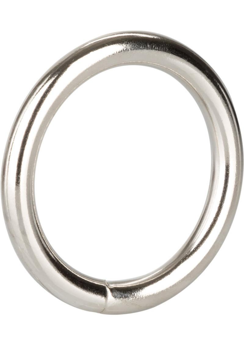 Silver Cock Ring Medium 2 Inch Diameter Silver