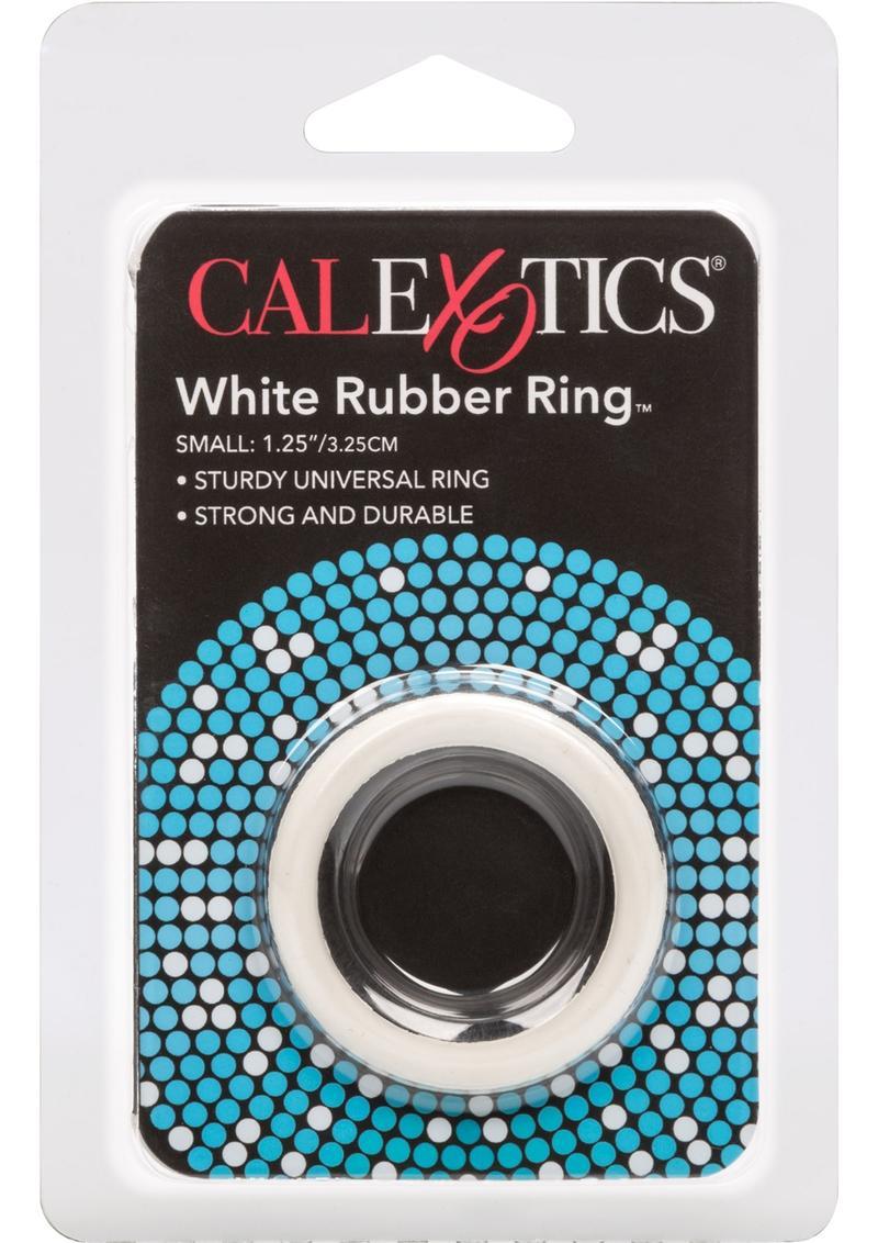 Rubber Cock Ring Small 1.25 Inch Diameter White