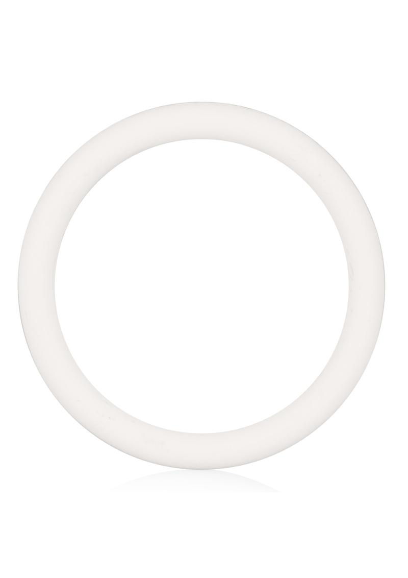 Rubber Cock Ring Large 2 Inch Diameter White