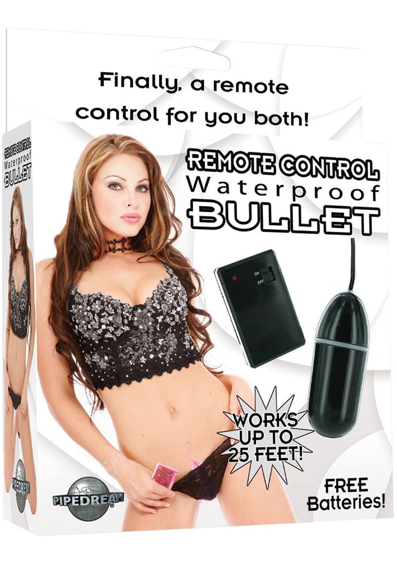 Remote Control Bullet Waterproof 3.25 Inch Black
