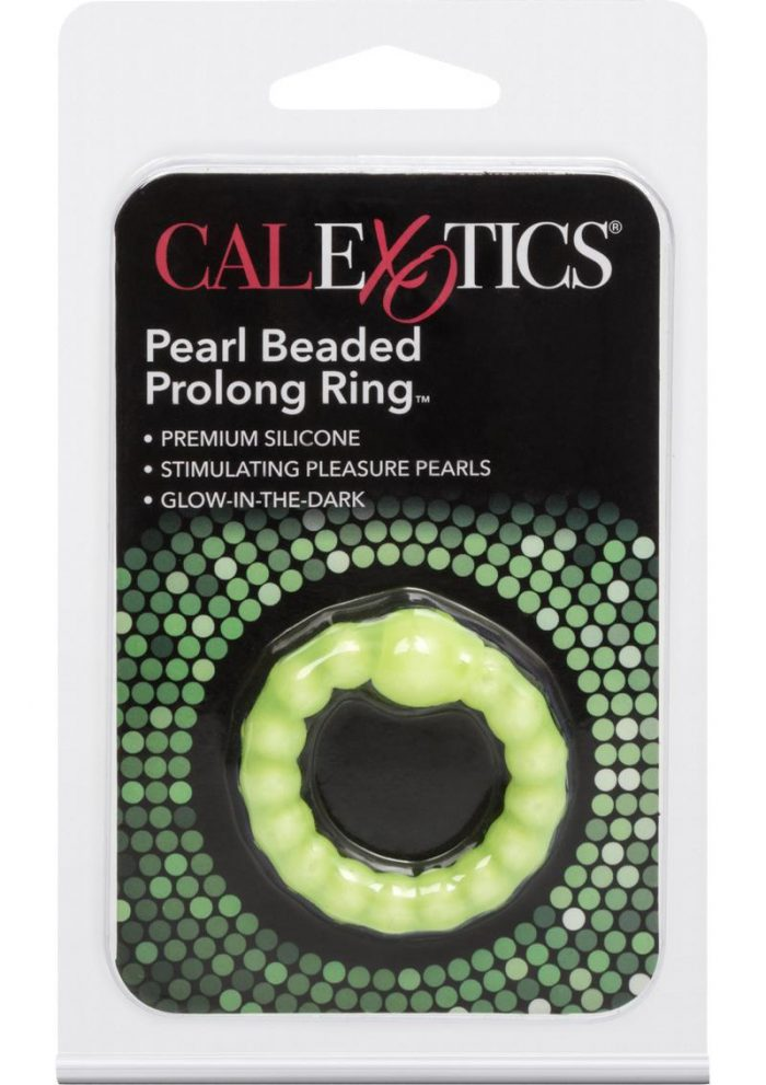 Pearl Beaded Prolong Cock Ring 1.5 inch Diameter Yellow