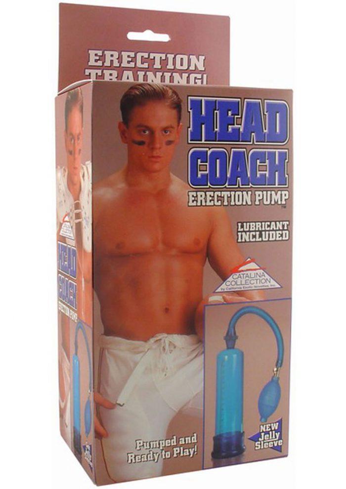 HEAD COACH ERECTION PUMP 7.5 INCH BLUE