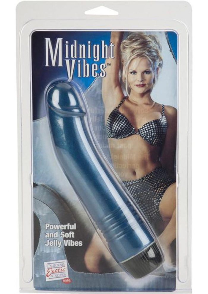 Midnight Vibes Jelly Realistic G-Spot Vibrator Blue 6.5 Inch