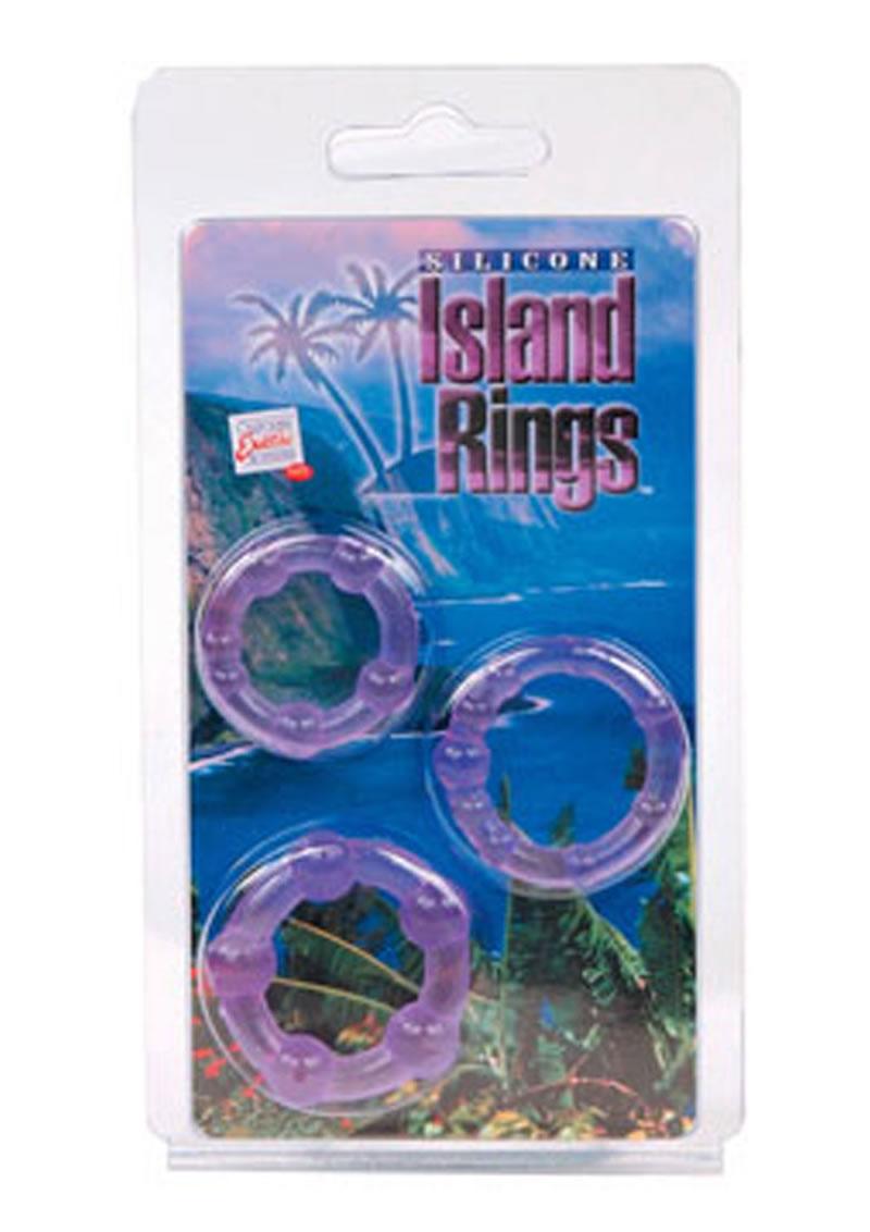 Siicone Island Rings Purple 3 Sizes