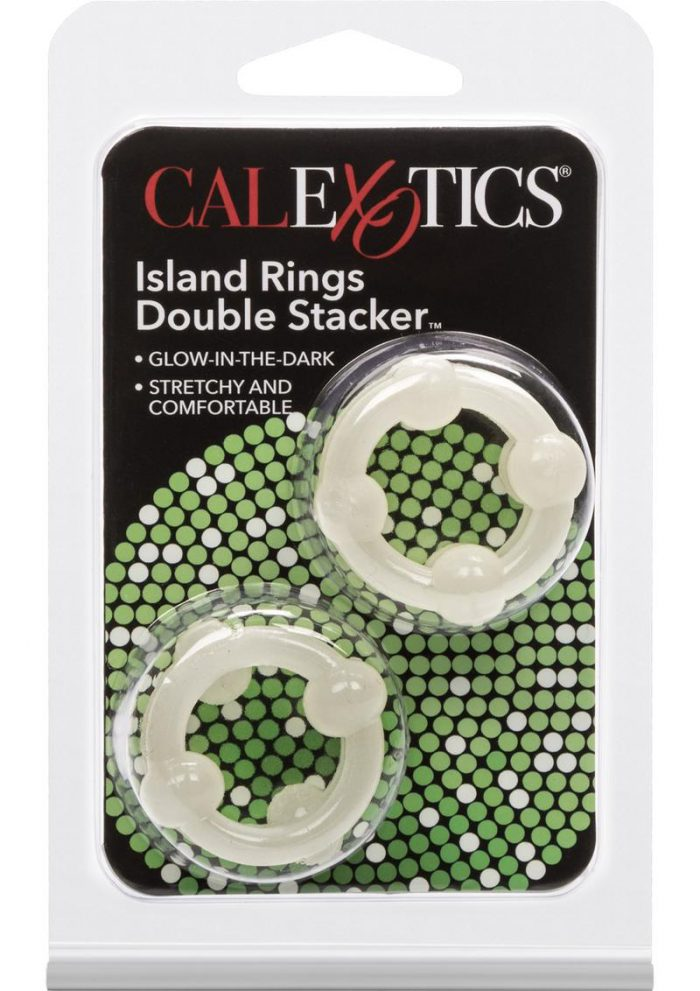 Island Rings Double Stacker Glow In The Dark 2 Styles