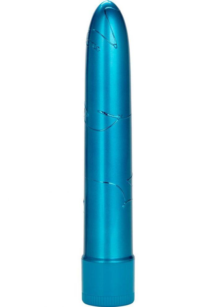 Metallic Massager Vibe Waterproof Blue 6.5 Inch