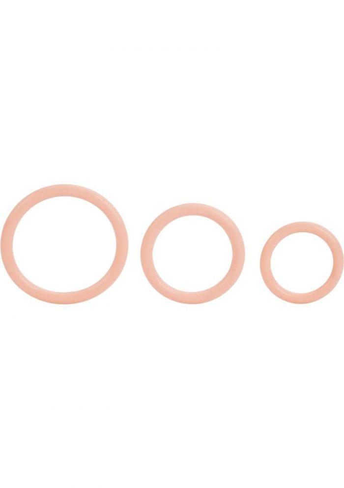 Tri Rings Natural Cock Ring Set Flesh