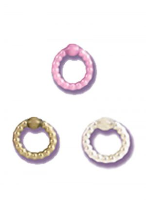 Pearl Beaded Prolong Cock Ring 1.5 inch Diameter Pearl