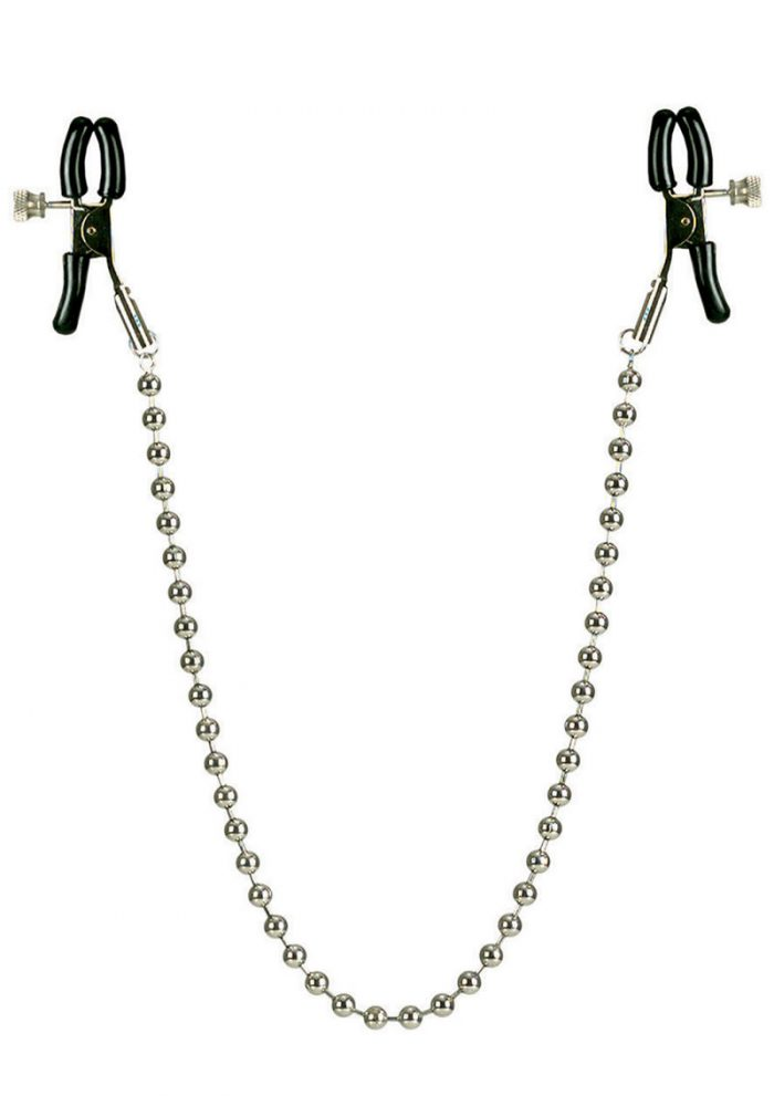 Nipple Clamps with Silver Chain Non Piercing