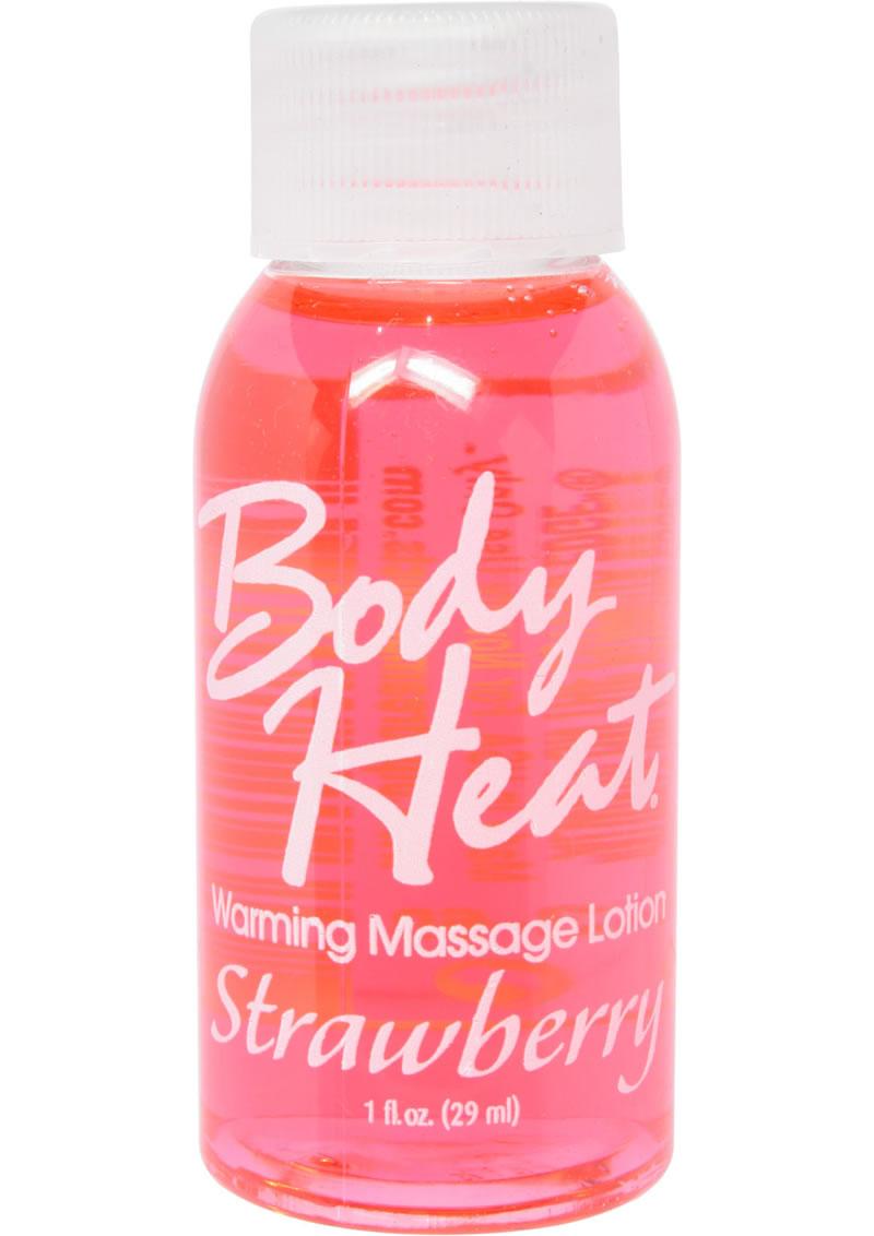 Body Heat Edible Warming Massage Lotion Strawberry 1 Ounce