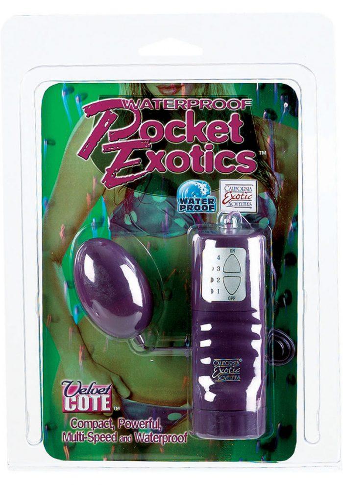 Waterproof Pocket Exotics Velvet Cote Egg Multispeed 2 Inch Purple