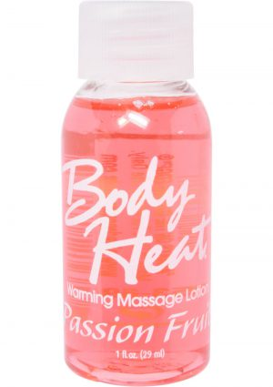 Body Heat Edible Warming Massage Lotion Passion Fruit 1 Ounce