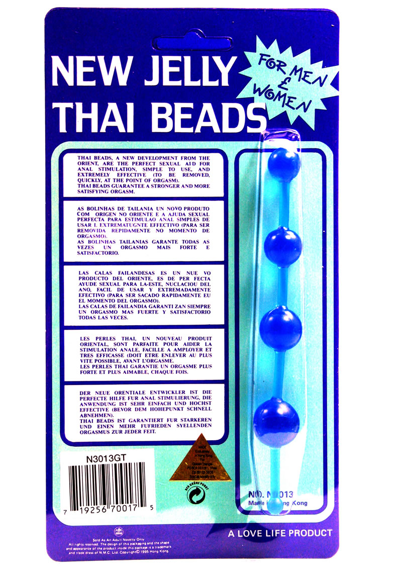 NEW JELLY THAI BEADS BLUE