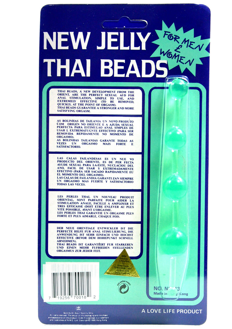NEW JELLY THAI BEADS GREEN