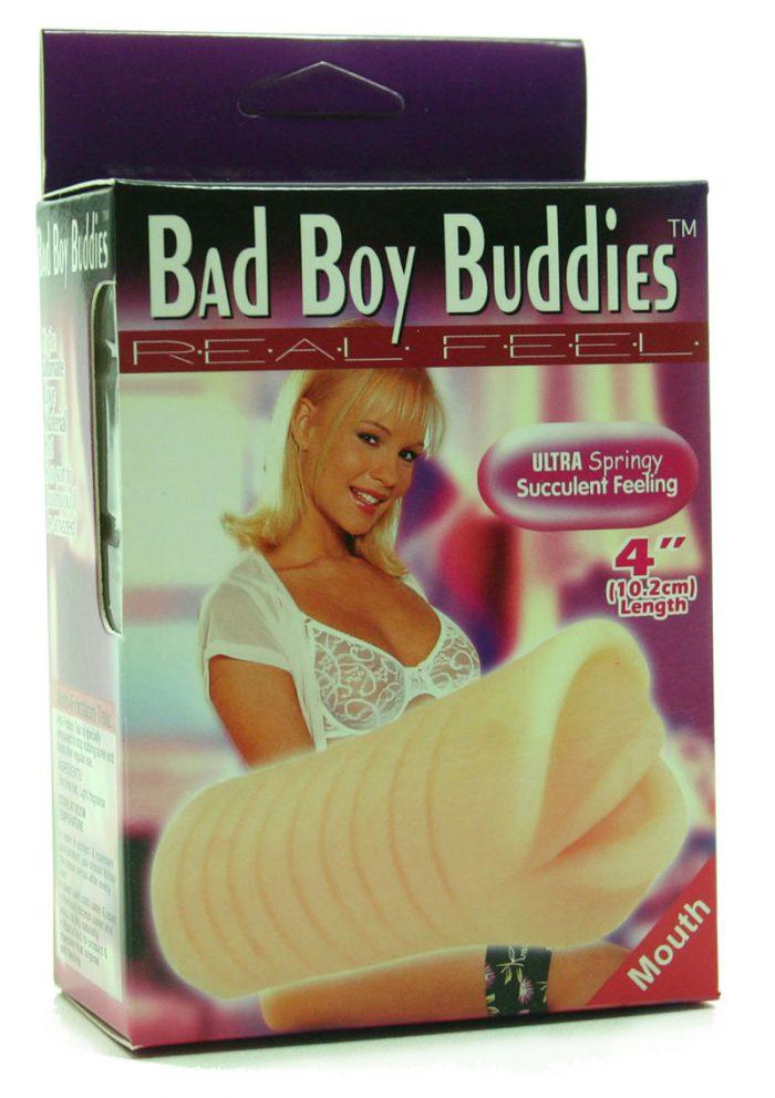 BAD BOY BUDDIES REAL FEEL MOUTH 4 INCH FLESH