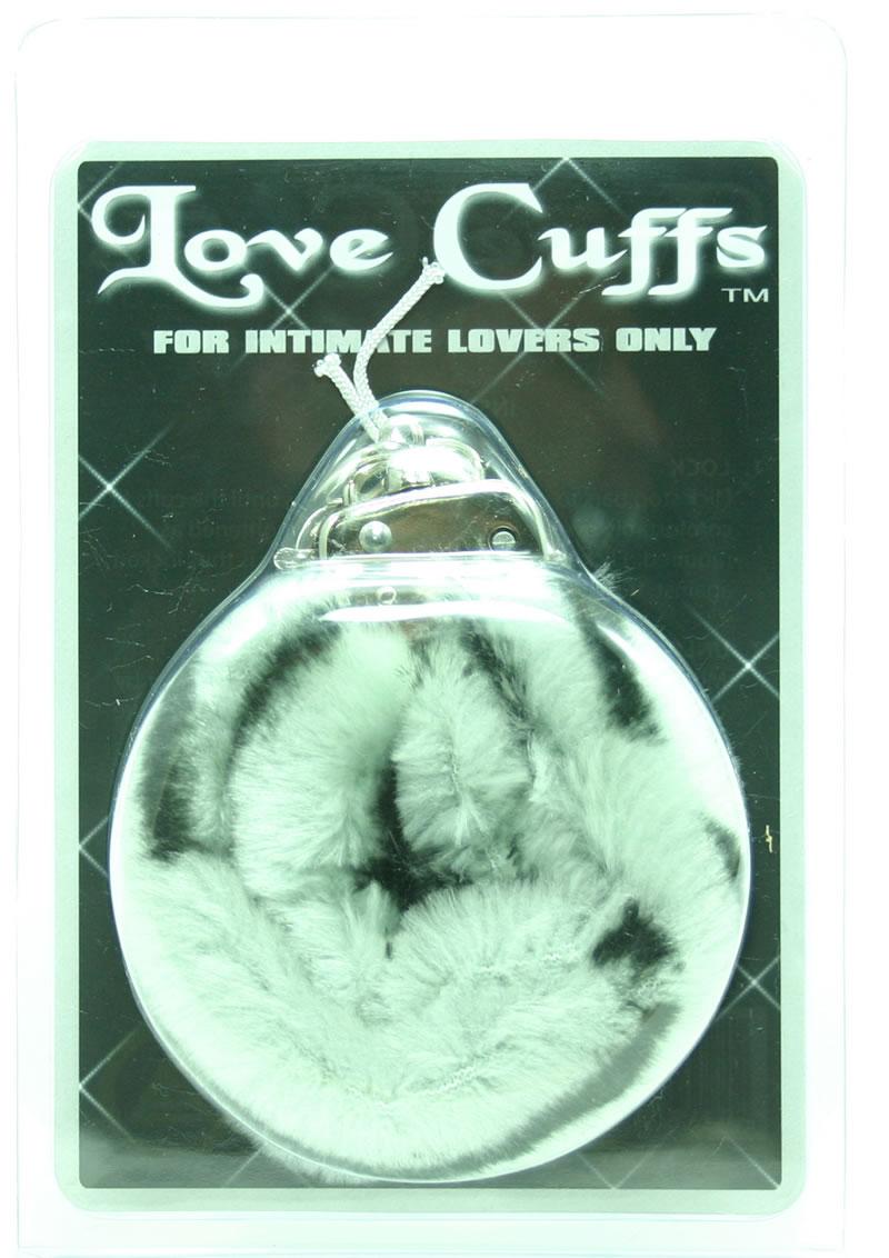 FURRY LOVE CUFFS ZEBRA