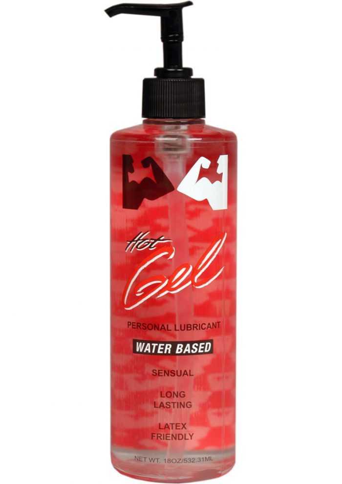 Elbow Grease Hot Gel Lubricant Water Based 18 Ounce