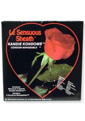 Le Sensuous Sheath Kandie Kondoms 4 Pack