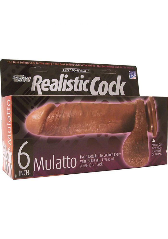 The Realistic Cock 6 Inch Mulatto