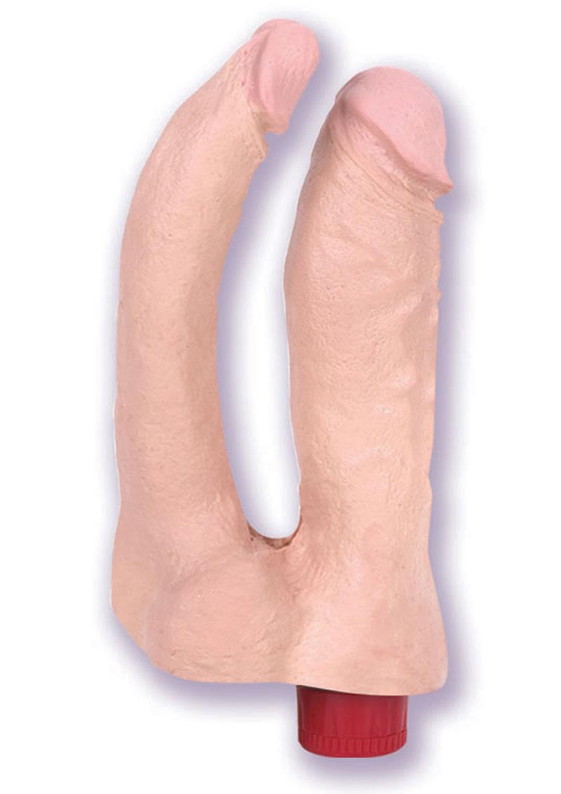 The Naturals Vibro Double Penetrator Flesh