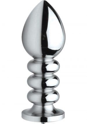 Zeus Electrosex Vivid Uni-Polar Estim Cock and Ball Strap Plus Ribbed Anal Plug Stainless Steel