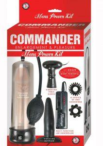 Commander Enlargement and Pleasure Mens Power Waterproof 5 Piece Kit Black