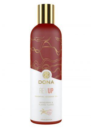 Dona Essential Massage Oil Revup Mandarin and Ylang Ylang
