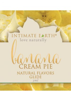Intimate Earth Natural Flavors Glide Banana Cream Pie 3 Milliliter Foil Pack