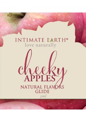 Intimate Earth Natural Flavors Glide Cheeky Apples 3 Milliliter Foil Pack
