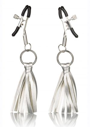 Nipple Play Tassels Nipple Clamp Silver