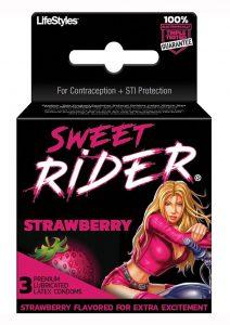 Sweet Rider Strawberry 3`s Condoms