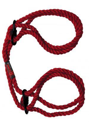 Kink Hogtied Hemp Cuffs Red